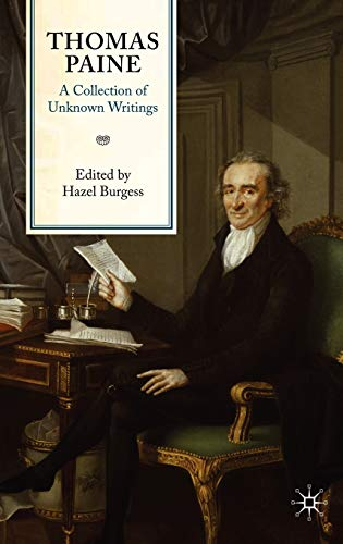 9780230204836: Thomas Paine: A Collection of Unknown Writings