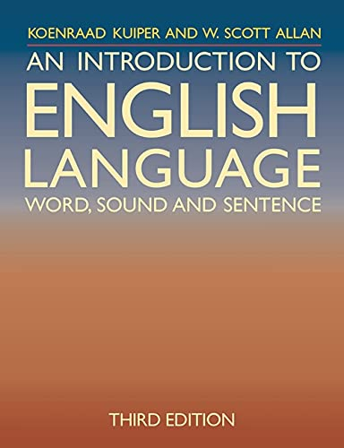 9780230208001: An Introduction to English Language: Word, Sound and Sentence