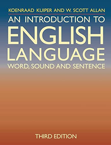 9780230208018: An Introduction to English Language: Word, Sound and Sentence