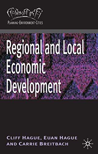 9780230213821: Regional and Local Economic Development (Planning, Environment, Cities)