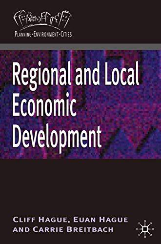 9780230213838: Regional and Local Economic Development (Planning, Environment, Cities)