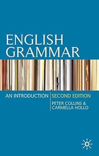 9780230216945: English Grammar: An Introduction