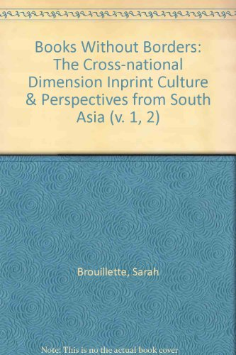 9780230217171: Books Without Borders (2 Volume Pack): Volumes 1 and 2: The Cross-National Dimension in Print Culture/Perspectives from South Asia (v. 1, 2)