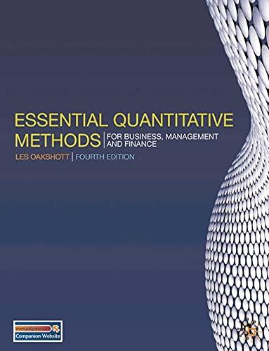 9780230218185: Essential Quantitative Methods: For Business, Management and Finance