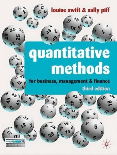 9780230218246: Quantitative Methods: for Business, Management and Finance