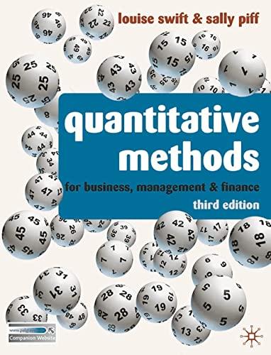 9780230218246: Quantitative Methods: For Business, Management and Finance