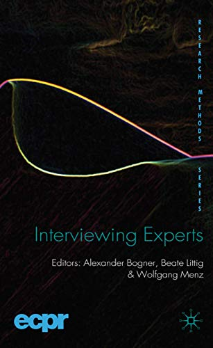 9780230220195: Interviewing Experts (ECPR Research Methods)