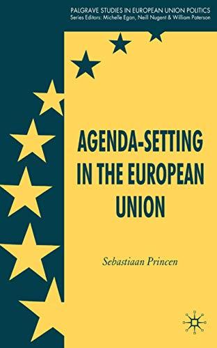 9780230220539: Agenda-Setting in the European Union (Palgrave Studies in European Union Politics)