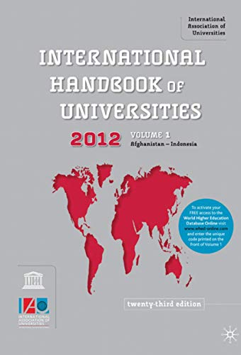 The International Handbook of Universities 2011 (Hardback): International Association of ...