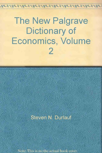 9780230226388: The New Palgrave Dictionary of Economics