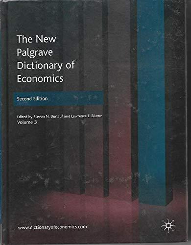 9780230226395: The New Palgrave Dictionary of Economics