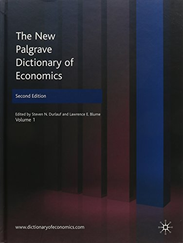 9780230226401: The New Palgrave Dictionary of Economics