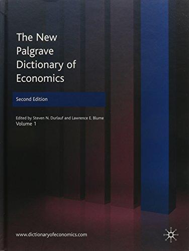 9780230226401: The New Palgrave Dictionary of Economics