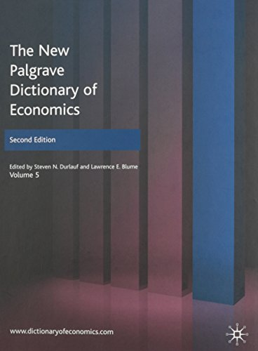 9780230226418: The New Palgrave Dictionary of Economics