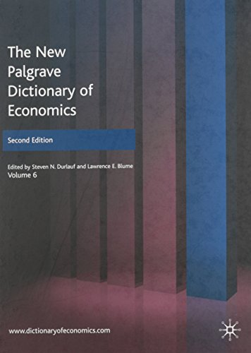 9780230226425: The New Palgrave Dictionary of Economics