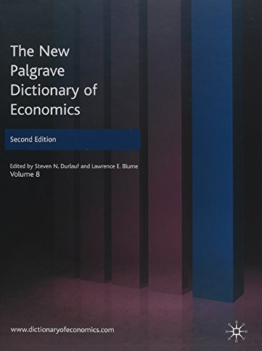 9780230226449: The New Palgrave Dictionary of Economics