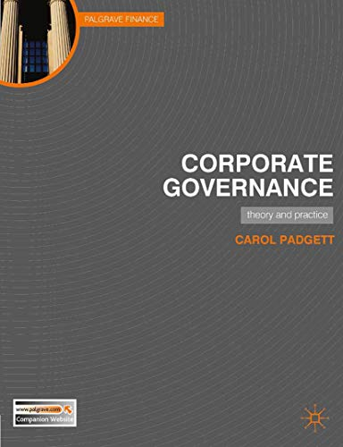 9780230229990: Corporate Governance: Theory and Practice (Palgrave Finance)
