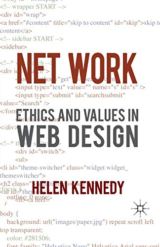 9780230231405: Net Work: Ethics and Values in Web Design