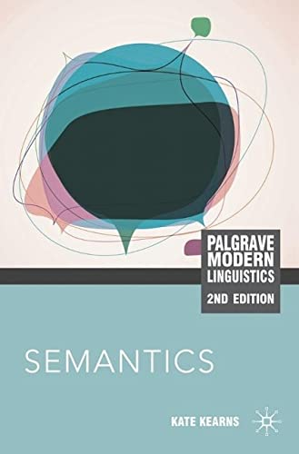 9780230232297: Semantics (Palgrave Modern Linguistics)