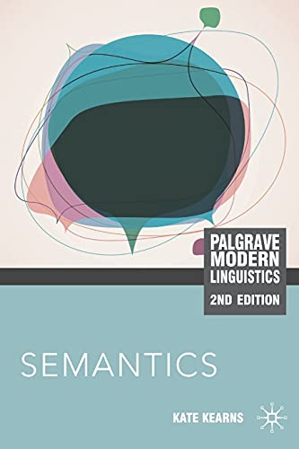 9780230232303: Semantics (Palgrave Modern Linguistics)