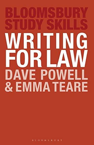 9780230236448: Writing for Law (Macmillan Study Skills)