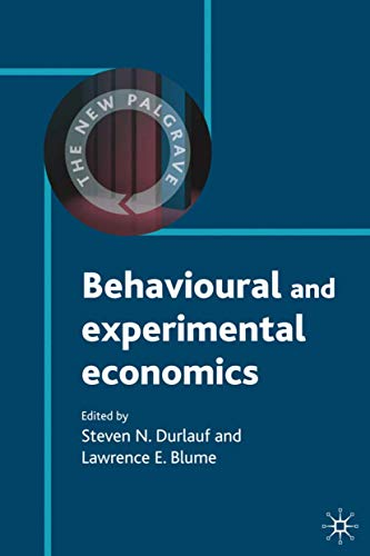 9780230238688: Behavioural and Experimental Economics (The New Palgrave Economics Collection)