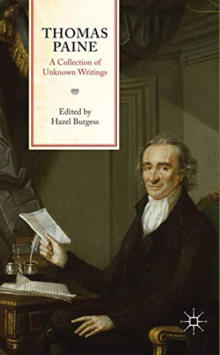 9780230239715: Thomas Paine: A Collection of Unknown Writings