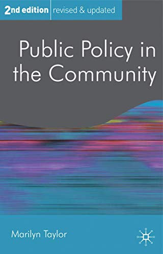 9780230242647: Public Policy in the Community (Public Policy and Politics)