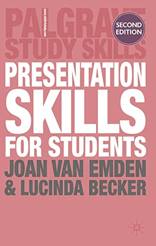 Presentation Skills for Students (Palgrave Study Skills): van Emden, Joan,