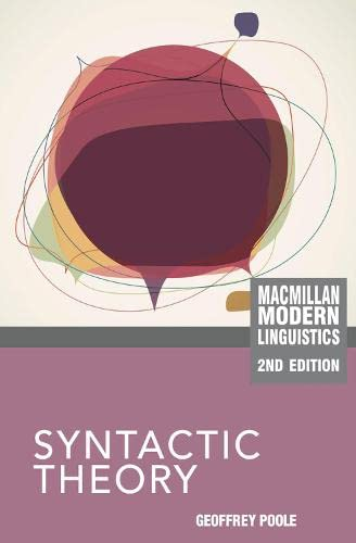 9780230243934: Syntactic Theory (Palgrave Modern Linguistics)