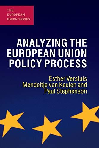 9780230246003: Analyzing the European Union Policy Process (The European Union Series)