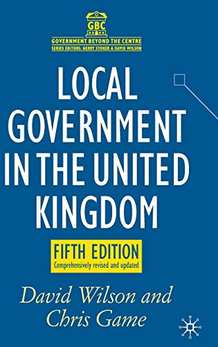 9780230246386: Local Government in the United Kingdom (Government Beyond the Centre)