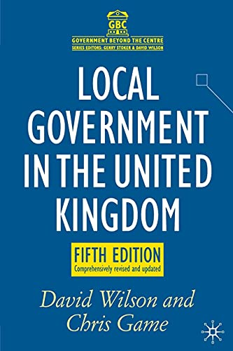 9780230246393: Local Government in the United Kingdom (Government beyond the Centre)