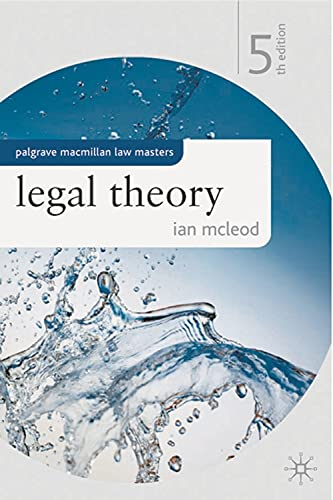 9780230247833: Legal Theory (Palgrave Macmillan Law Masters)