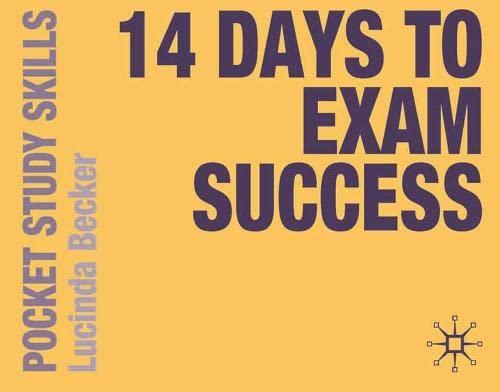 9780230249103: 14 Days to Exam Success (Pocket Study Skills)
