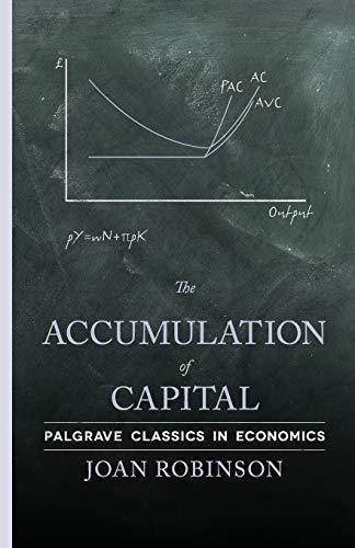 9780230249325: The Accumulation of Capital (Palgrave Classics in Economics)