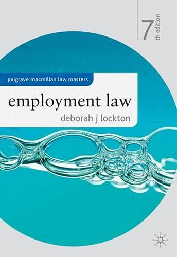9780230251588: Employment Law (Palgrave Macmillan Law Masters)