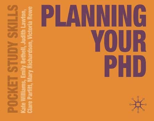 9780230251939: Planning Your PhD (Pocket Study Skills)