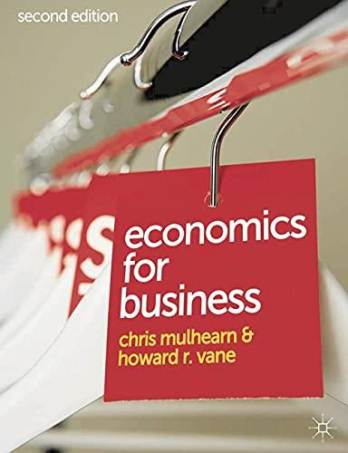 9780230271715: Economics for Business