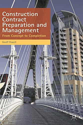 9780230273795: Construction Contract Preparation and Management: From Concept to Completion