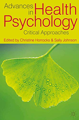 9780230275386: Advances in Health Psychology: Critical Approaches
