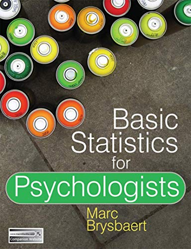9780230275423: Basic Statistics for Psychologists
