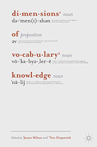 9780230275737: Dimensions of Vocabulary Knowledge