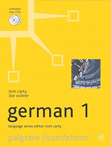 9780230280571: Foundations German 1: 1 (Palgrave Foundation Series Languages)
