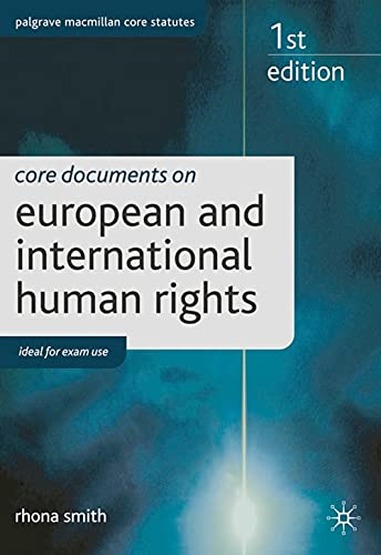 9780230281141: Core Documents on European and International Human Rights (Palgrave Core Statutes)
