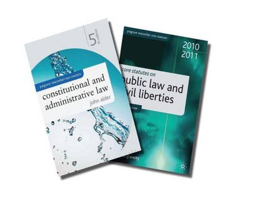 9780230282728: Constitutional and Administrative Law + Core Statutes on Public Law and Civil Liberties Value Pack