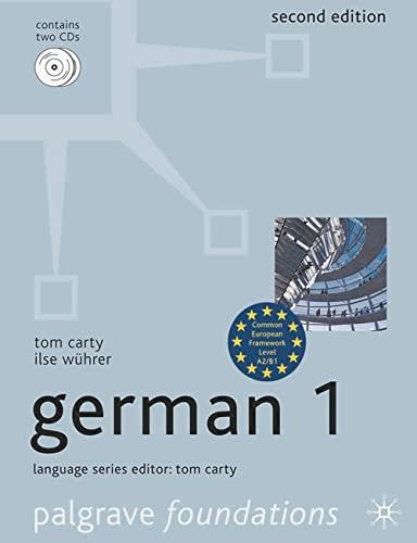 9780230284746: Foundations German 1 (Palgrave Foundation Series Languages)