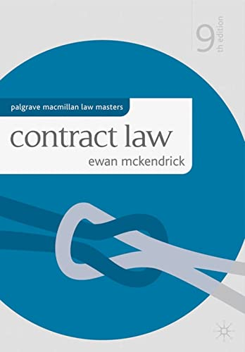 9780230285699: Contract Law (Palgrave Macmillan Law Masters)