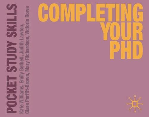 9780230292819: Completing Your PhD