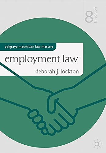 9780230301283: Employment Law (Palgrave Macmillan Law Masters)